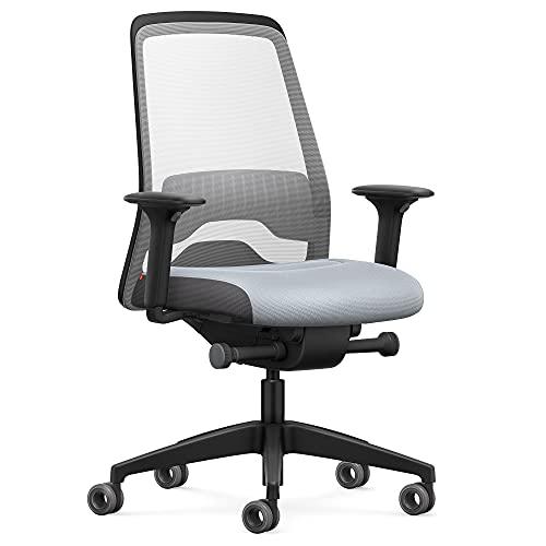 Interstuhl Every Active Edition – Der Bürostuhl der sich automatisch an die Bewegung des Nutzers anpasst – mit verstellbarer Lordosenstütze – vereint komfortables & aktives Sitzen