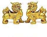 Décoration d'équipement de vie Résine Pixiu / Piyao Ornements Maison et bureau Statue de Feng Shui chinois Meilleur décor de félicitations de pendaison de crémaillère Attirer la richesse et la bonn
