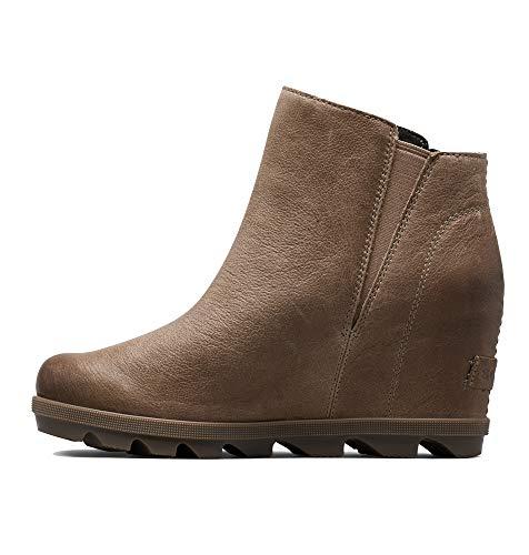 Sorel Womens Joan of Arctic Wedge II Zip Winter Waterproof Ankle Boots - Ash Brown - 8.5