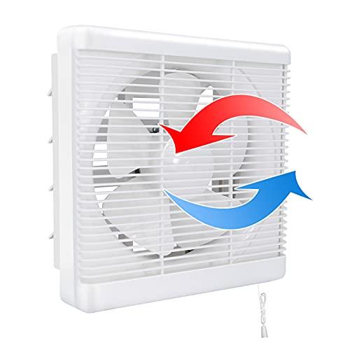 Ventilador extractor de 470 CFM, 2 direcciones, reversible, fuerte flujo de aire montado en la pared, utilizado para ventiladores de ventilación para cocina, baño, ventana de loft y sótano