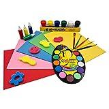 evelay Poster Paint Kids Set Piece Art Crafts Art (36set) Poster Coloured Children's Paint Set Beginners...