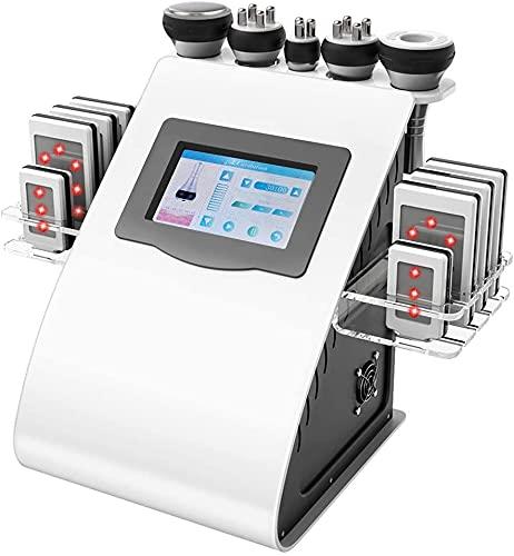 SKYWPOJU Masajeadores de radiofrecuencia de 40K, máquina de Adelgazamiento Corporal Profesional 6 en 1, Masaje de cavitación ultrasónica para Eliminar la Celulitis
