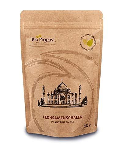 BioProphyl® Flohsamenschalen - 500 g gemahlene indische Flohsamenschalen Plantago ovata - ohne Hilfsstoffe
