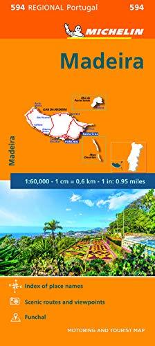 Michelin Madeira: Straßen- und Tourismuskarte 1:60.000 (MICHELIN Regionalkarten)
