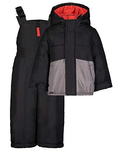 Carter's Boys' Heavyweight 2-Piece Skisuit Snowsuit (Grey/Orange, 4T)