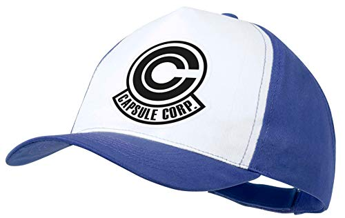 MERCHANDMANIA Gorra Azul Logo Capsule Corp Dragon Ball...