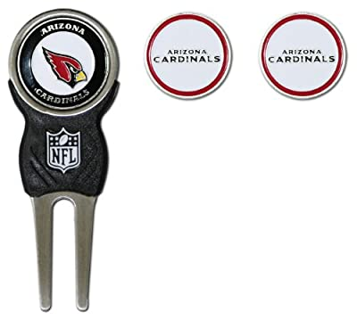 Team Golf NFL Divot Tool with 3 Golf Ball Markers Pack, Markers are Removable Magnetic Double-Sided Enamel