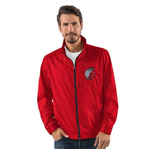 G-III Sports NBA Portland Trail Blazers Men's Breaker Full Zip Jacket, X-Large, Red