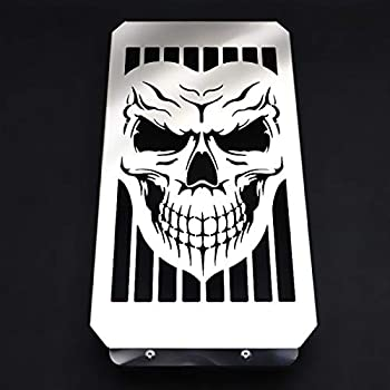 Motorcycle Skull Radiator Cover Guard Grill Grille Shrouds Cooler Protector For Honda VTX1800 VTX 1800 C F N R S T  Bright Silver