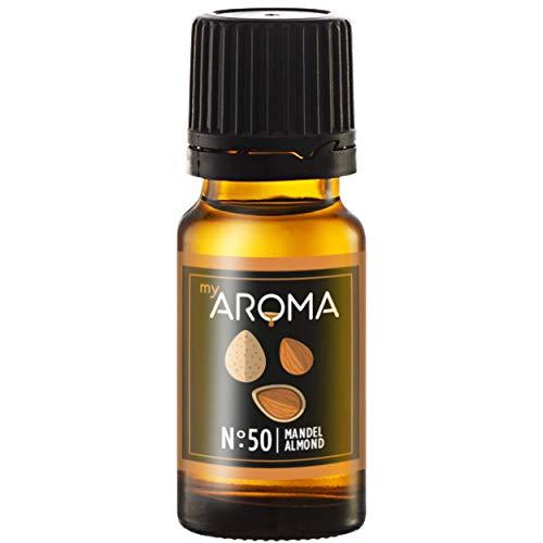 myAROMA | No. 50 (Mandel, 10 ml) | Rein natürliches Aroma | Geschmackstropfen zum Kochen, Backen & Mixen | Zuckerfrei & ohne Süßung