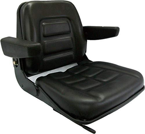 Black Talon Universal Folding Bucket Seat with Armrests - Black, Model Number 355000BK