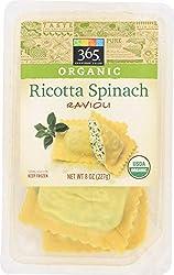 365 Everyday Value, Organic Ricotta Spinach Ravioli, 8 oz, (Frozen)