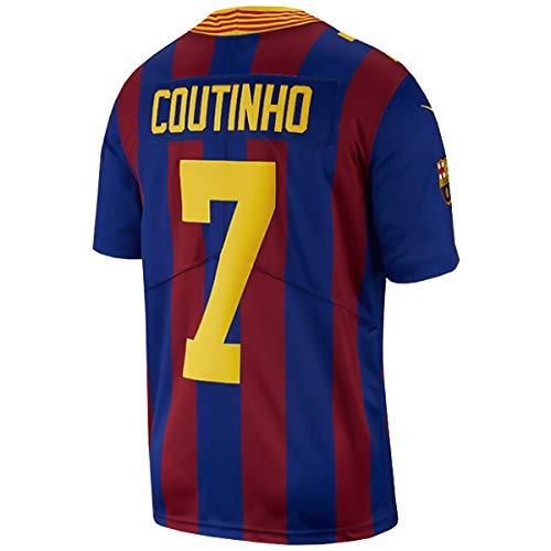 # 7 Philippe Coutinho Football Jersey, Stickerei, Reiner Baumwolle, Fußball-Hemd, ärmelloser Weste Unisex S-XXXL (Color : A, Size : Child-XX-Large)