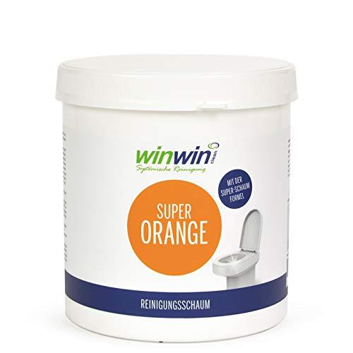 winwin clean Systemische Reinigung - SUPER ORANGE REINIGUNGSSCHAUM/WC-Schaum 1KG MIT MESSBECHER