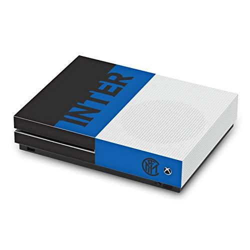 Head Case Designs Licenza Ufficiale Inter Milan Blu E Nero Logo Pieno Opaca in Vinile Sticker Pelle Adesivo Compatibile con Xbox One S Console