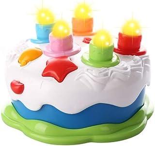 Love&Mini - Pastel de cumpleaños con velas musicales para niños de 1 2 3 4 5 años