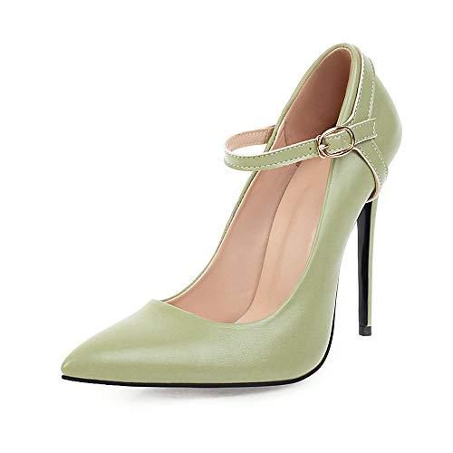 DEAR-JY Zapatos de Tacón para Mujer,12Cm Sexy Court Shoes Bombas,El Vestido de Noche de la Fiesta de Boda del Bombea los tamaños Grandes,con Correas de Zapatos Desmontables,Verde,43.5 EU/9 UK