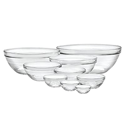 Duralex Made In France Lys Stackable 9/10Piece Bowl Set