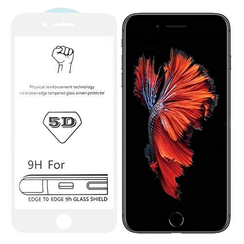 Dmtrab para Película de Vidrio Templado de Pantalla Completa de Pantalla Completa de 9h 5D White Full para iPhone 6 / 6s