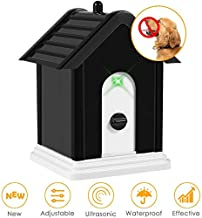 Anti Barking Device, 2020 New Bark Box Outdoor Dog Repellent Device with Adjustable Ultrasonic Level Control Safe for Small Medium Large Dogs, Sonic Bark Deterrents, Bark Control Device
