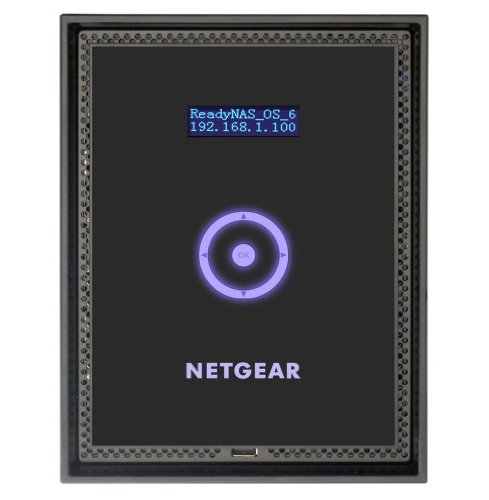 Netgear RN31664E-100EUS ReadyNAS Storage Desktop 6 Slot con 6 Dischi Enterprise da 4 TB, Serie 300, Nero/Antracite