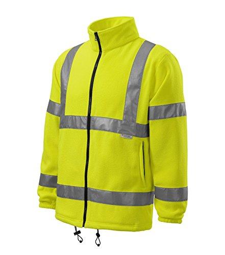 Adler Warnschutzkleidung HV Fleece Jacke mit Reflektoren Damen Fleecejacke - Größe und Farbe wählbar -Men (XXXL, gelb)