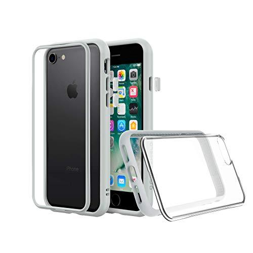 RhinoShield Modulares Case kompatibel mit [iPhone SE2 / SE (2020) / 8/7] | Mod NX - Schockabsorbierende Anpassbare Dünne Schutzhülle 3.5 Meter Fallschutz - Platin Graue mit transparenter Backplate