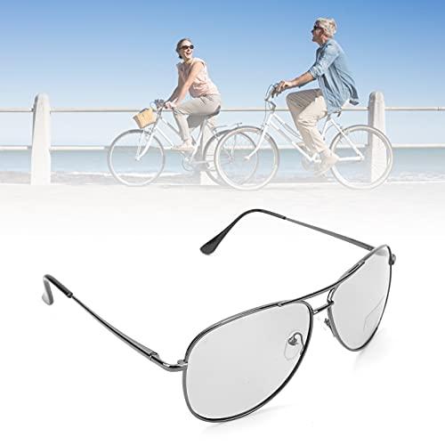 Gafas de protección, gafas de sol de conducción con marco de aleación de metal con bisagras de resorte para hacer compras