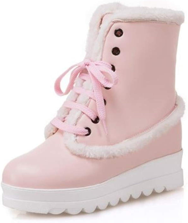 ALLAK Women's Winter Fur Lined Frosty Snow Boots