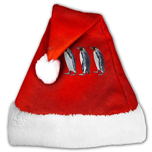 CZLXD Personalisierte Weihnachtsmütze mit Pinguine, Polyester, rot, S
