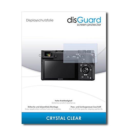 disGuard® Protector de Pantalla [Crystal Clear] compatibile con Sony Alpha 6300 [2 Piezas] Cristal, Transparente, Invisible, Anti-Arañazos, Anti-Huella Dactilar - Película Protectora
