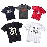 メンズ 半袖 Tシャツ 5枚組 デザイン固定 プリント アウトドア 透けない 綿100 L [r-rnt-021912~021916-L]