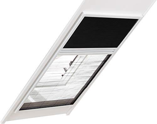 Insektenschutz und Sonnenschutz Fliegengitter Kombi Dachfenster Plissee 110 X 160 cm