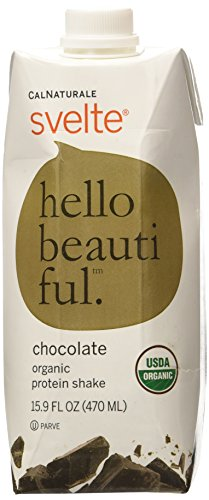 CalNaturale Svelte Organic Protein Shake, Chocolate, 15.9 Ounce (Pack of 6)
