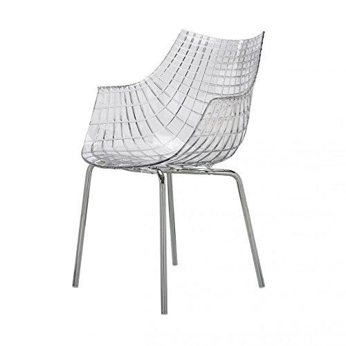 Driade Meridiana Stuhl mit 4 Beinen - transparent