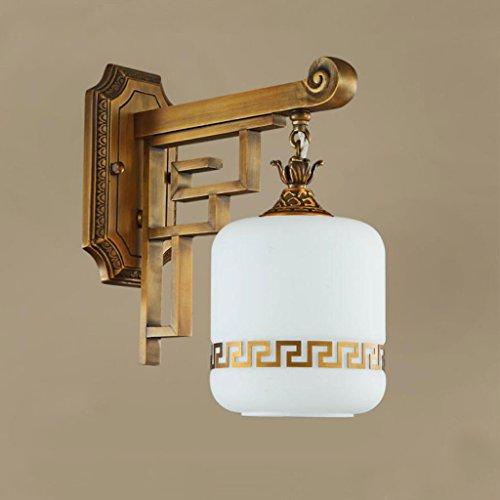Wddwarmhome wandlamp bronzen wandlamp slaapkamer woonkamer gang versierd wandlamp imitatie marmer muur lamp klassieke retro wandlamp, E27