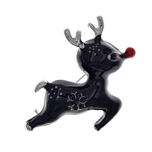 GLKHM Amber Brooch Enamel Deer Brooches Women Animal Pin Christmas Brooche Accessories-3_4.3 * 4.5Cm
