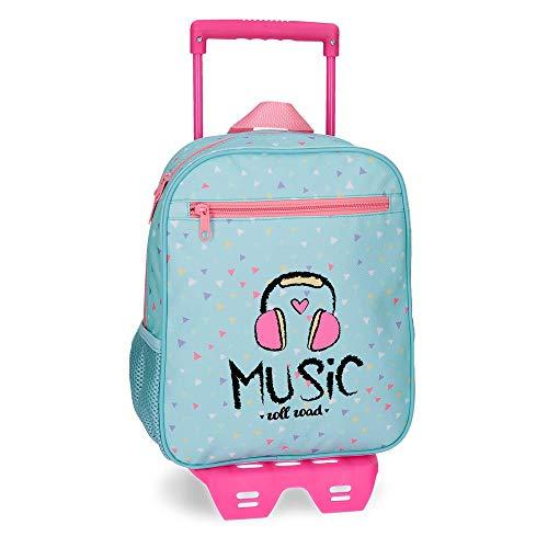 ROLL ROAD Music Mochila preescolar con carro