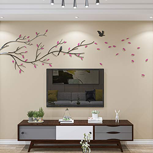 DecorSmart 3D Chinese Style Couple Tree and Flying Birds Wall