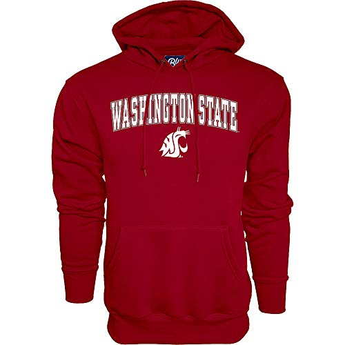 Elite Fan Shop WSU Cougars Hooded Sweatshirt Varsity Crimson Arch Over - X-Large