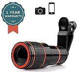 TECHNOVIC Phone Camera Lens Kit, 8X Optical Zoom Marco Lens Telephoto Focus Telescope Lens...