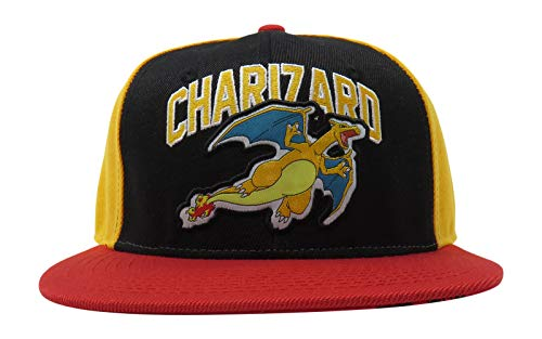 Bioworld Pokemon Charizard Embroidered Snapback Cap Hat Licensed Orange