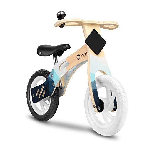Lionelo Willy Bicicleta de Equilibrio 81 x 54 x 38 cm para Menores hasta 25 kg Regulación del Asiento Aspecto Original Ruedas Ligeras Asa para Transportar Azul