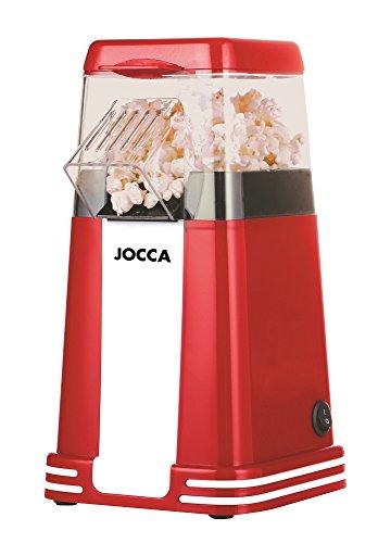 Jocca Palomiteur sans huile pour popcorn maison et saines, rouge
