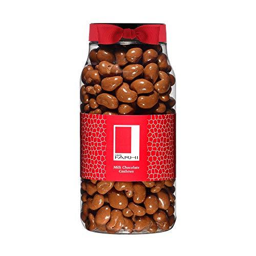 Photo of Rita Farhi Milk Chocolate Covered Cashew Nuts in a Gift Jar, 750g