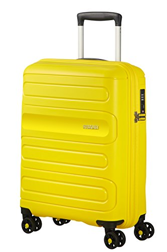 American Tourister Hand Luggage, Yellow (Sunshine Yellow), Spinner S (55 cm-35 L)