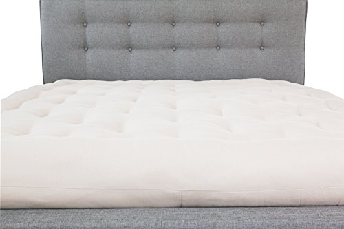 Best Bargain White Lotus Home GCWBDM14 Green Cotton and Wool Boulder Dreamton Mattress, 54x75x8-Doub...