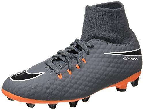 Nike Unisex-Erwachsene Hypervenom Phantom III Academy DF AG-Pro Fitnessschuhe, Mehrfarbig (Dark Grey/Total Oran 081), 38.5 EU