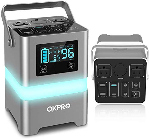 OKPRO Portable Power Station 62500mA /231Wh Solar