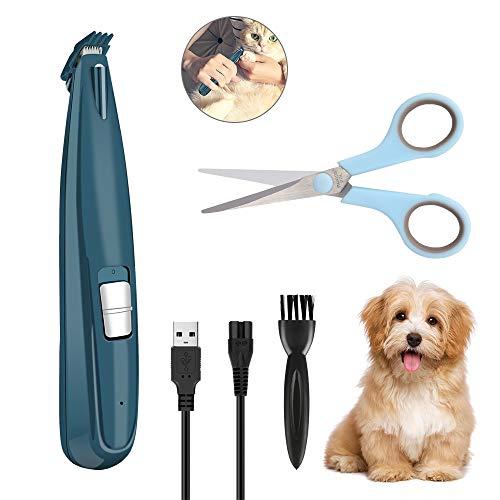 Welltop Cortapelos para Perro y Gato, Bajo Ruido y Vibración, Máquina de Cortar Pelo Inalambrica Profesional para Mascotas Pequeñas Medianas y Grande